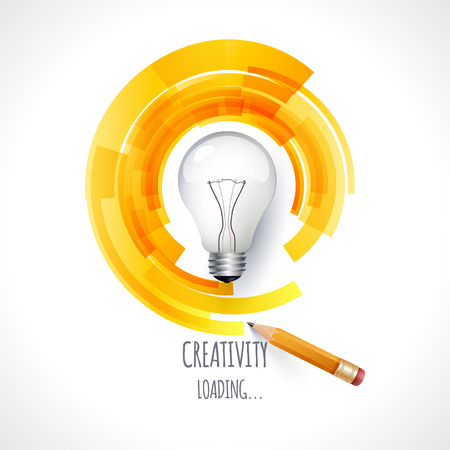 Idea. Design of progress bar, loading creativity Stock Photo