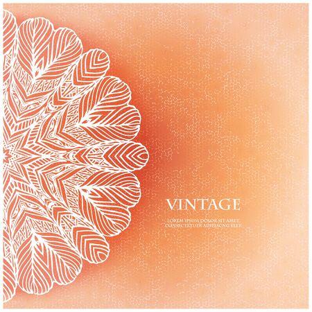 soft colors: Elegant Indian ornamentation background.Cover soft pastel colors.