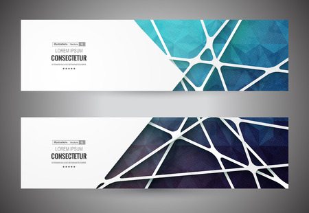 Colorful mosaic banner Info graphics composition with geometric shapes.