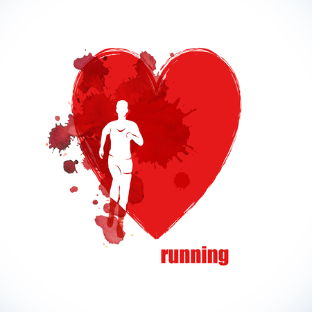 Running people. keep running sport background health