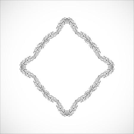 Monochrome delicate frame of branches Ilustrace
