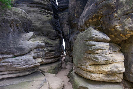 a narrow crevice in the rocky mountains, an interesting travel destination, from anywhere in Europe