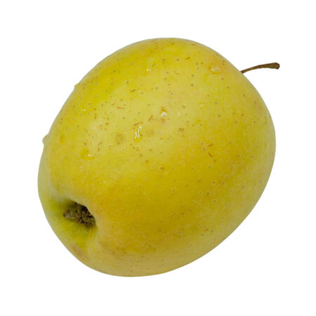 green apple lies on a white background  Stock Photo