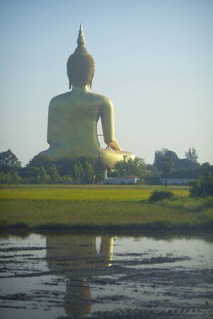 Giant buddha in Angthong province, Thailand photo