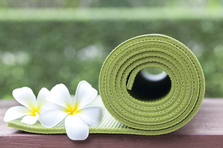 yogamatten Stockfoto