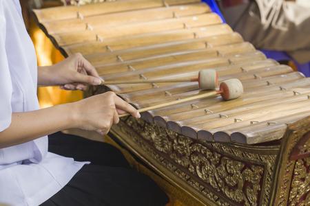 thai musical instrument: Thai musical instrument (Alto xylophone) Stock Photo