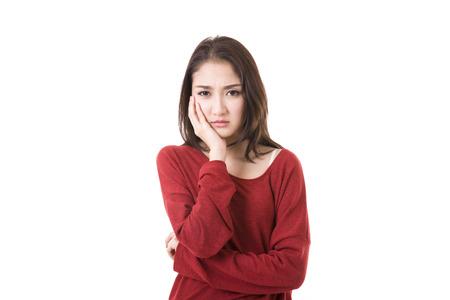 歯痛に苦しんでいる女性 写真素材