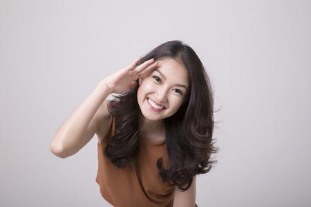 肖像画美しいアジアの女の子