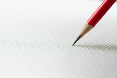 red pencil: graph paper with red pencil