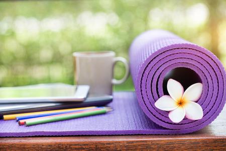 yoga mat Stok Fotoğraf - 39047303