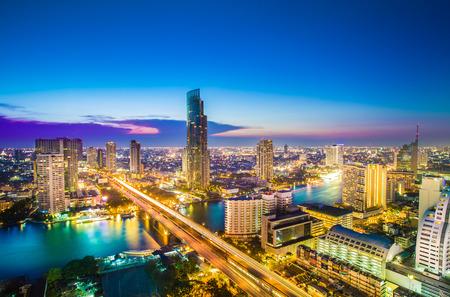 Landscape of River in Bangkok city 写真素材