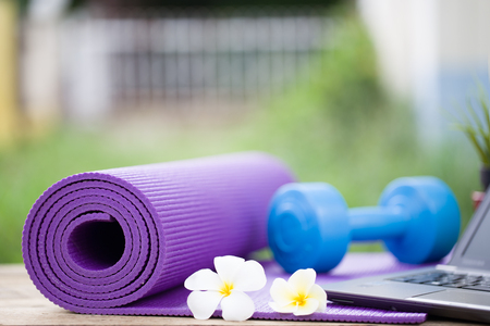 yoga mat: Prepare yourself with yoga exercise outdoors