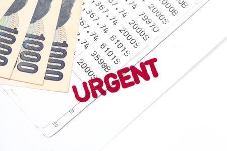 bank statement: urgent document, bank statement, financial concept
