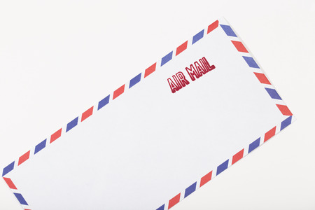 air mail: air mail stamped on the envelope Stock Photo