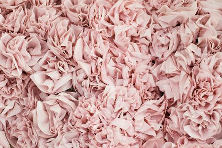 fake newspaper: close-up handmade rose flower backdrop Stock Photo