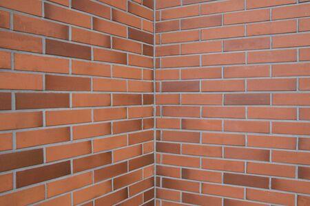 angle: brick wall wide angle Stock Photo