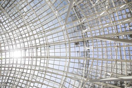 steelwork: building construction of metal steel framework outdoors