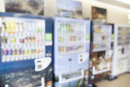 blurred image of vending machine 写真素材