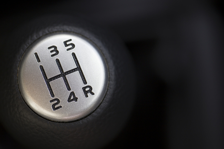 The gear change lever close-up Stock Photo