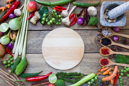 タイの食材、野菜、スパイシーな味