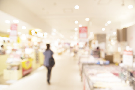 convenient store: Supermarket blur background with bokeh
