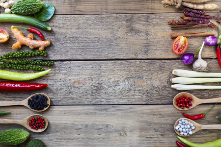 Thai food ingredients, vegetable, spicy taste Zdjęcie Seryjne