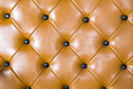 upholstery: Brown leather upholstery background Stock Photo