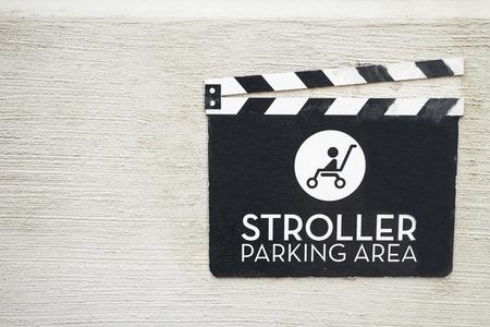 designated: Stroller parking