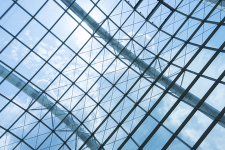 transom: building construction of metal steel framework outdoors