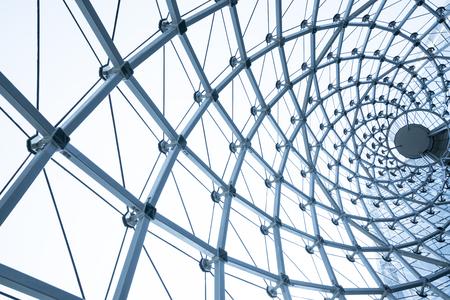 transom: building construction of metal steel framework outdoors