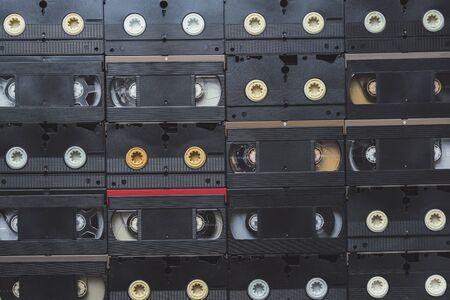 videocassette: VHS Video Cassette Tapes  Stock Photo