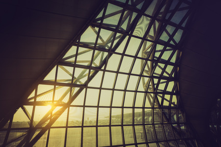 transom: BANGKOK- April 21 : Interior of Suvanabhumi Airport on April 21, 2017 Editorial