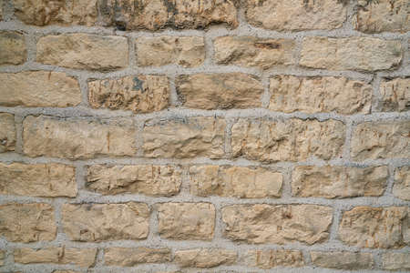 old stone wall texture and background, close up