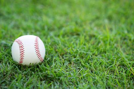 close-up baseball on the infield, sport concept Standard-Bild