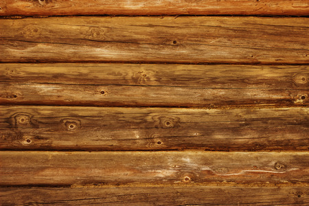 the brown old wood plank texture with knot Stock Photo