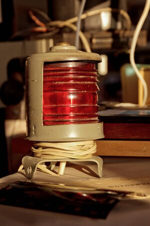 Old vintage red light as photographic equipment 스톡 콘텐츠