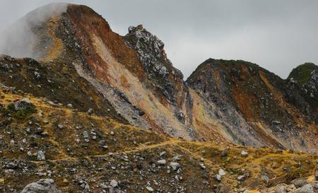 Surroundings of the volcano Sibayak on the island of Sumatra in Indonesia. Wildlife Volcanoes