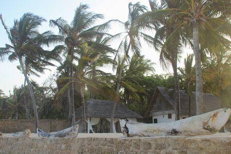 Mombasa, Kenya - March 2, 2015: Resort on the shores of the Indian Ocean, Diani Beach, Mombasa, Africa Banco de Imagens