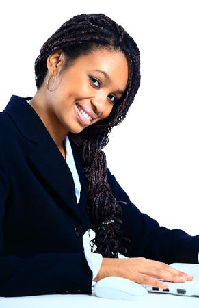 職場の美しいアフリカ系アメリカ人ビジネス女性 写真素材