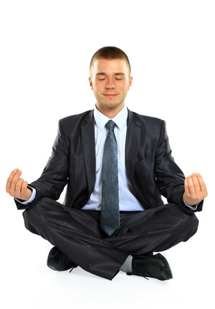 Young businessman relaxing photo