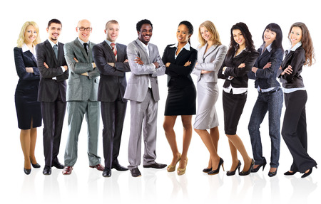 multi racial groups: Group of business people