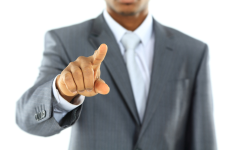 白ポイントに分離されたアフリカの実業家と黒募集コンセプト