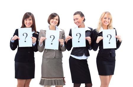 正体不明のビジネスの女性のグループ