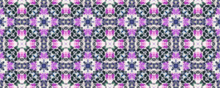 Batik Brush. Tribal Backdrop.  Indigo and Pink Textile Print. Rainbow Natural Ethnic Illustration. Shibori or Batik Brush Style.