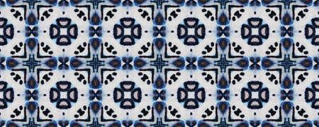 Boho Textures. Indigo and Black Textile Print. Asian Backdrop.  Multicolor Natural Ethnic Illustration. Seamless Boho Textures. Stock fotó