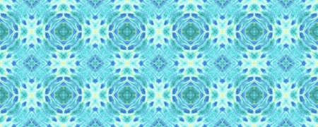 Tie Dye Seamless Pattern.  Tribal Backdrop.  Blue and Yellow Textile Print. Multicolor Natural Ethnic Illustration. Seamless Watercolor Tie Dye Pattern.