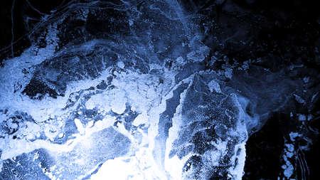 Watercolour Illustration. Alcohol Ink Picture. Art Template. Indigo Blue Watercolour Illustration. Indigo Blue Fashion Paint. Acrylic Shape. Wedding Background. Effect. Stock fotó