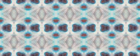 Seamless Tie Dye Pattern. Multicolor Natural Ethnic Illustration. Indigo, Black and White Textile Print. Asian Backdrop.  Seamless Tie Dye Design.