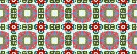 Ethnic Pattern. Green, Blue, Red, Indigo Seamless Texture. Seamless Tie Dye Illustration. Ikat African Design. Abstract Shibori Design. Ethnic CraftHand Made Pattern. Stock fotó