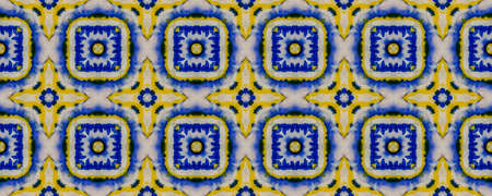 Tibetan Fabric. Denim Texture. Tie Dye Ornament. Ikat Indonesian Design. Abstract Kaleidoscope Print. Tibetan Hand Drawn Fabric Print.